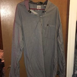 Cinch long sleeve button up